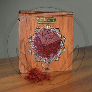 جعیه چوبی زعفران