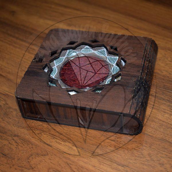 باکس چوبی زعفران آنا قاین