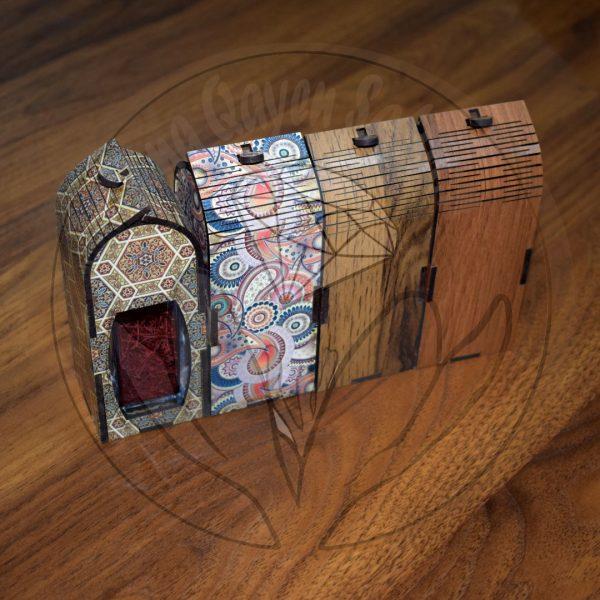 طرح چوبی زعفران